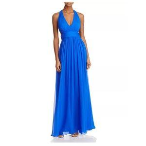 Aidan Mattox Blue Cutout Gown